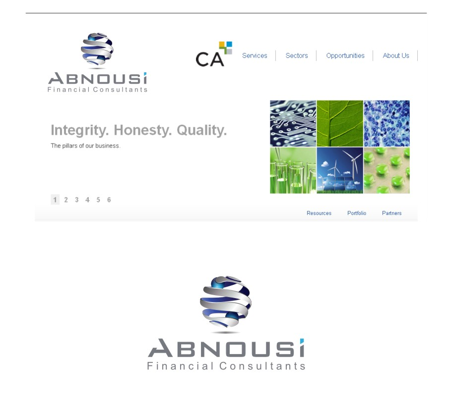 Logo Design by graphicleaf - Entry No. 203 in the Logo Design Contest Fun Logo Design for Abnousi Financial Consultants.