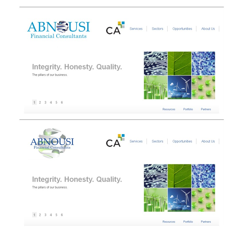 Logo Design by graphicleaf - Entry No. 204 in the Logo Design Contest Fun Logo Design for Abnousi Financial Consultants.