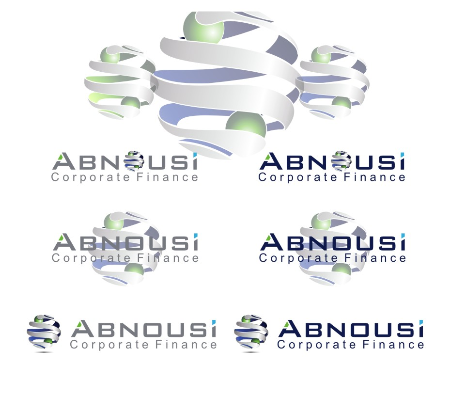 Logo Design by Muhammad Nasrul chasib - Entry No. 209 in the Logo Design Contest Fun Logo Design for Abnousi Financial Consultants.