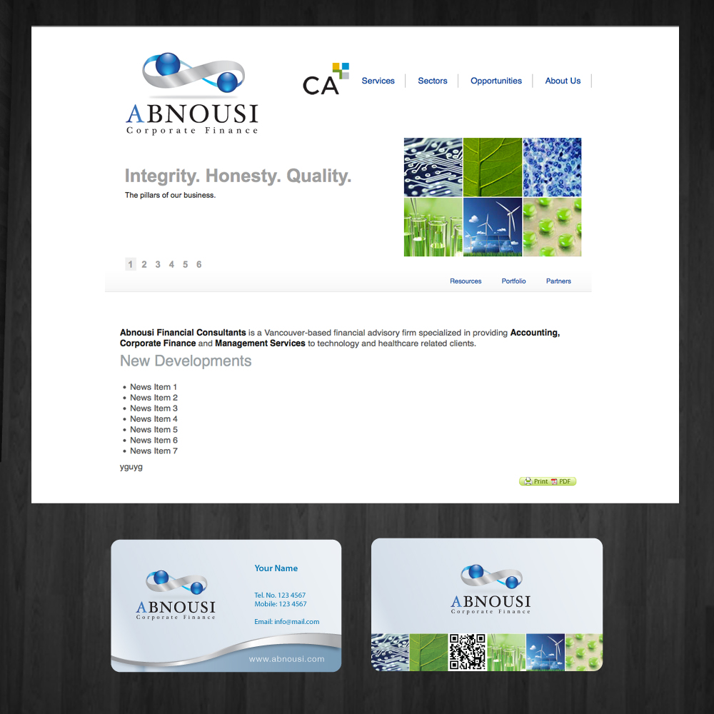 Logo Design by storm - Entry No. 211 in the Logo Design Contest Fun Logo Design for Abnousi Financial Consultants.