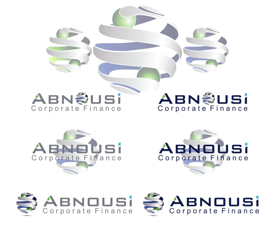 Logo Design by Muhammad Nasrul chasib - Entry No. 217 in the Logo Design Contest Fun Logo Design for Abnousi Financial Consultants.