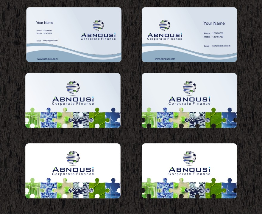 Logo Design by graphicleaf - Entry No. 221 in the Logo Design Contest Fun Logo Design for Abnousi Financial Consultants.