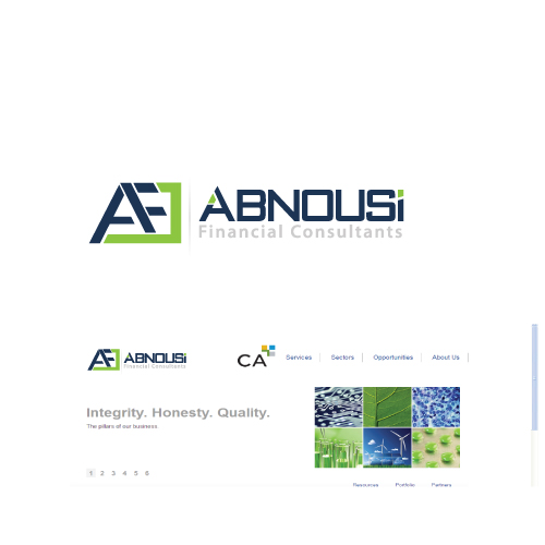 Logo Design by designhouse - Entry No. 226 in the Logo Design Contest Fun Logo Design for Abnousi Financial Consultants.