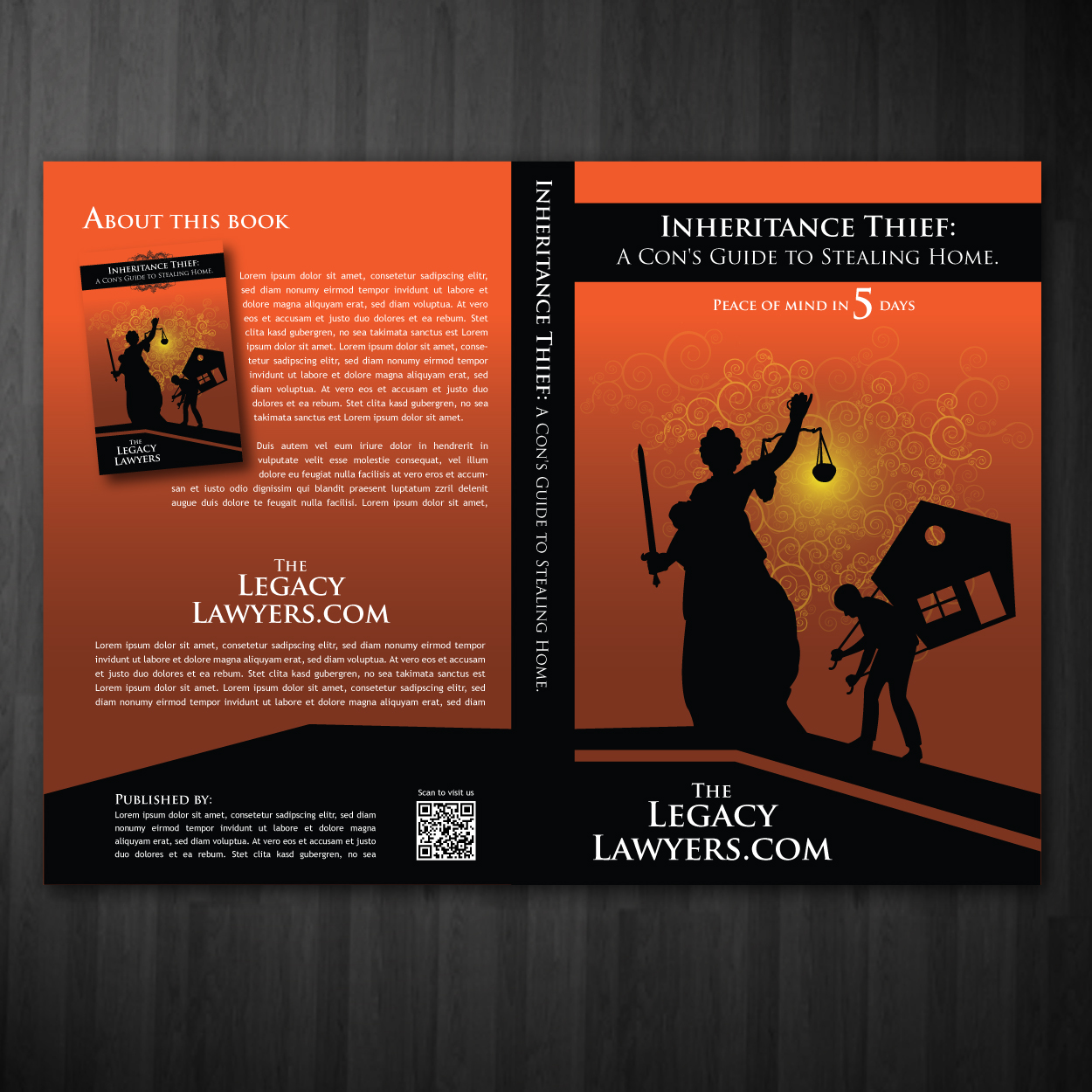 Book Cover Design by storm - Entry No. 1 in the Book Cover Design Contest Unique Book Cover Design Wanted for The Legacy Lawyers (TheLegacyLawyers.com).