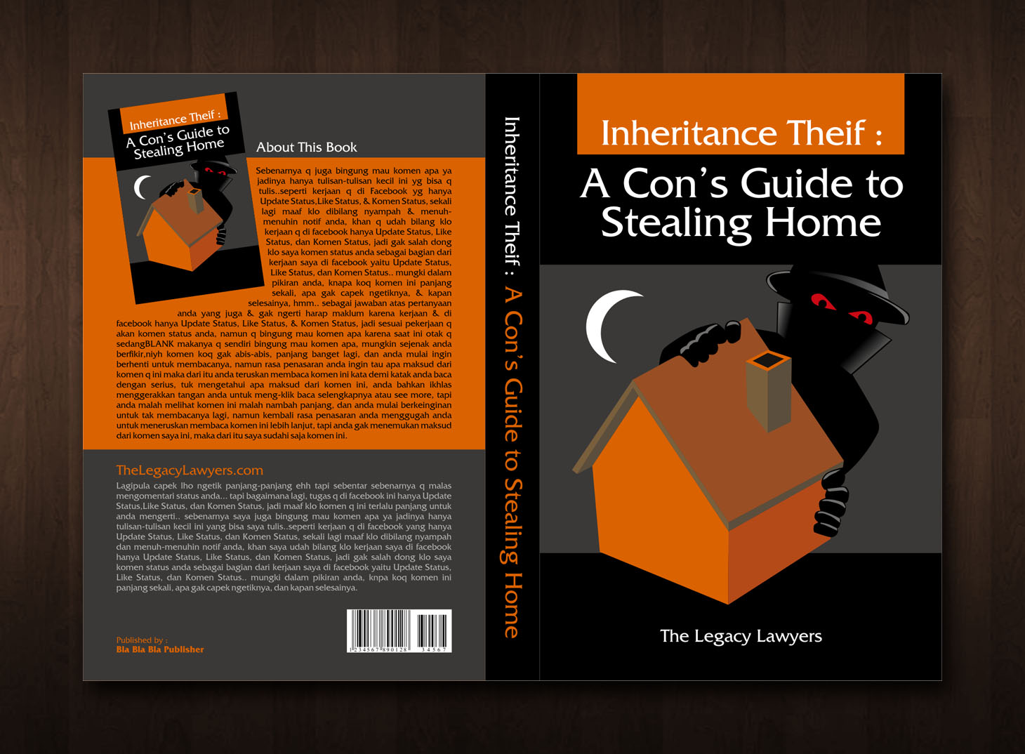 Book Cover Design by bojoeus - Entry No. 50 in the Book Cover Design Contest Unique Book Cover Design Wanted for The Legacy Lawyers (TheLegacyLawyers.com).