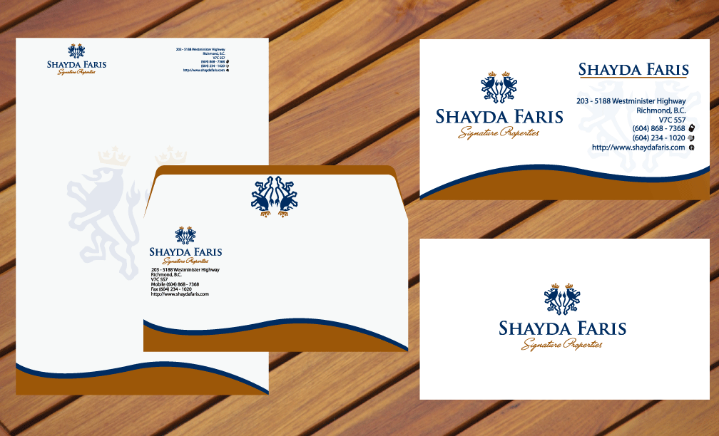 Business Card Design by rockin - Entry No. 4 in the Business Card Design Contest Unique Stationery Design Wanted for Shayda Faris.