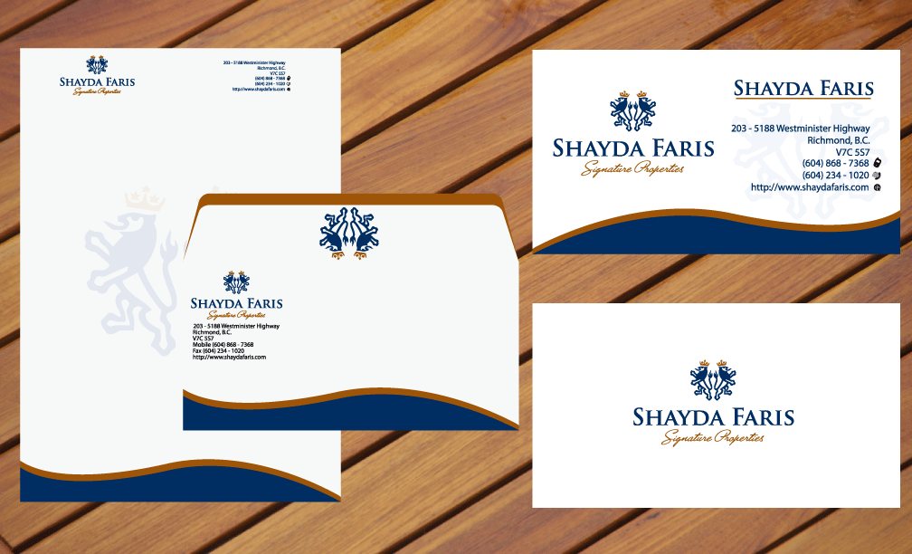 Business Card Design by rockin - Entry No. 6 in the Business Card Design Contest Unique Stationery Design Wanted for Shayda Faris.