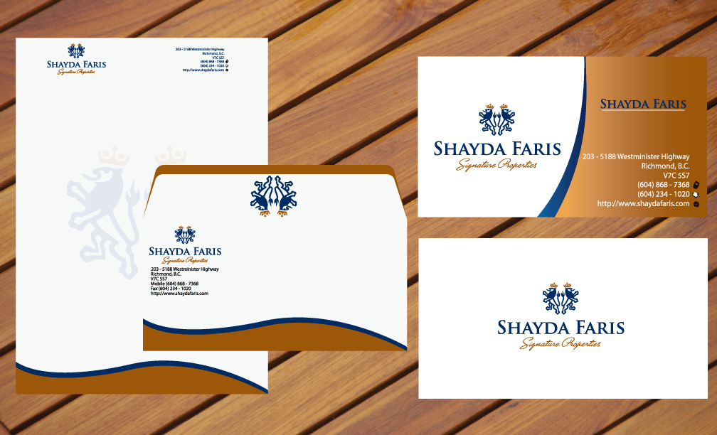 Business Card Design by rockin - Entry No. 7 in the Business Card Design Contest Unique Stationery Design Wanted for Shayda Faris.