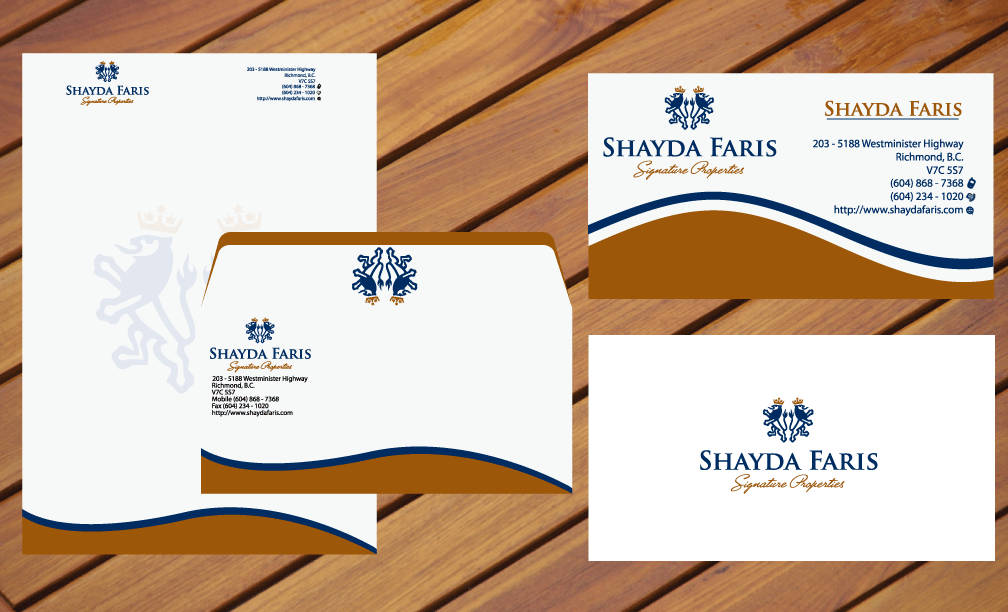 Business Card Design by rockin - Entry No. 8 in the Business Card Design Contest Unique Stationery Design Wanted for Shayda Faris.