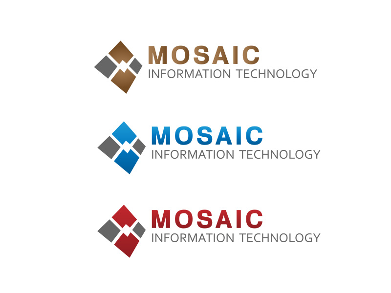 Logo Design by ddamian_dd - Entry No. 15 in the Logo Design Contest Mosaic Information Technology Logo Design.