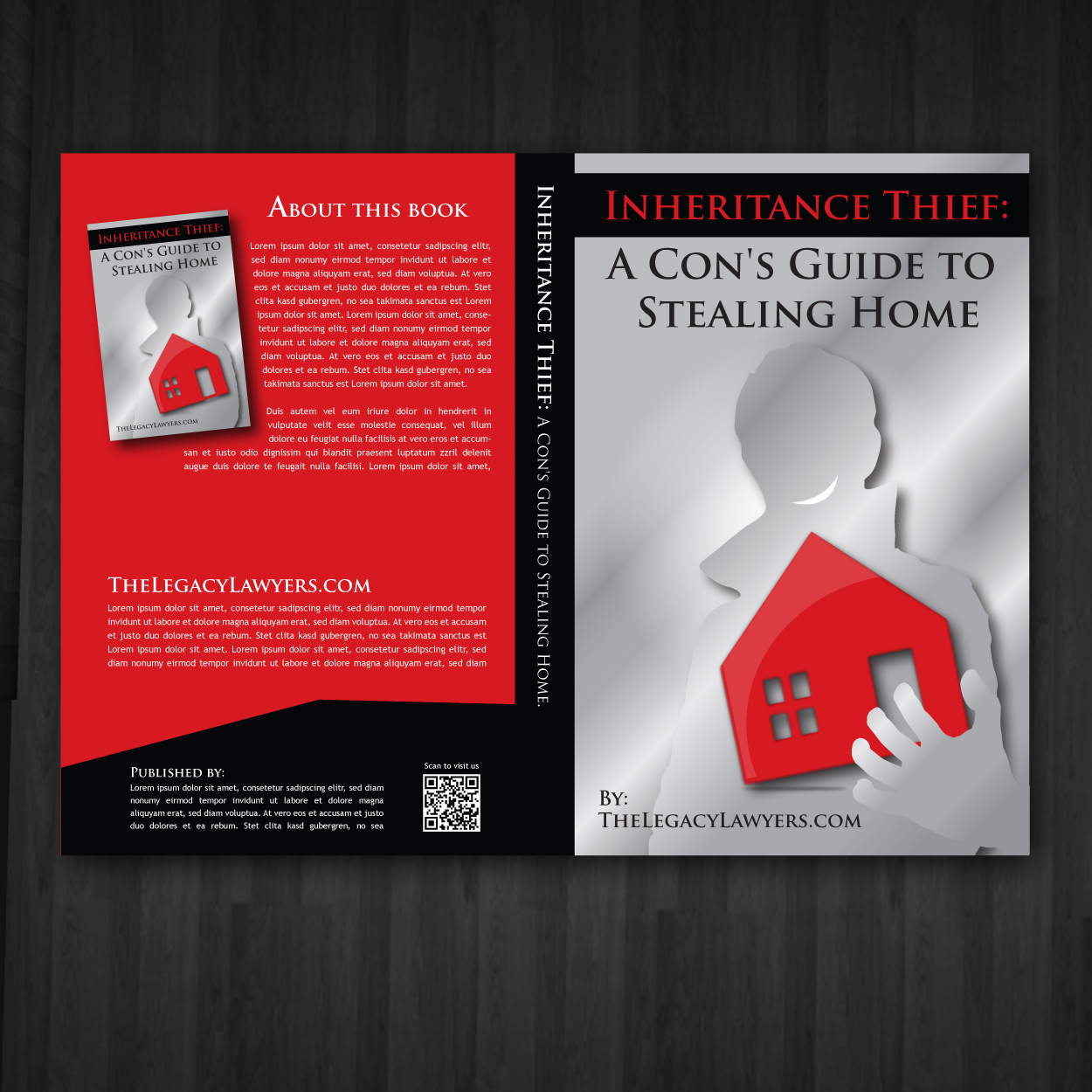 Book Cover Design by storm - Entry No. 100 in the Book Cover Design Contest Unique Book Cover Design Wanted for The Legacy Lawyers (TheLegacyLawyers.com).