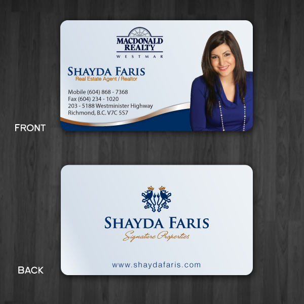 Business Card Design by storm - Entry No. 35 in the Business Card Design Contest Unique Stationery Design Wanted for Shayda Faris.