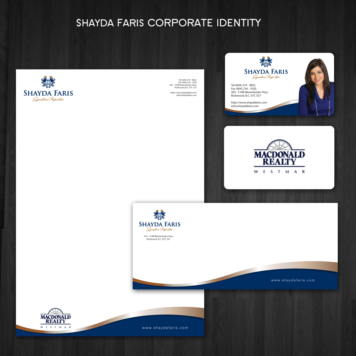 Business Card Design by storm - Entry No. 39 in the Business Card Design Contest Unique Stationery Design Wanted for Shayda Faris.
