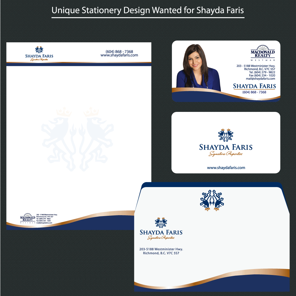 Business Card Design by rockin - Entry No. 43 in the Business Card Design Contest Unique Stationery Design Wanted for Shayda Faris.