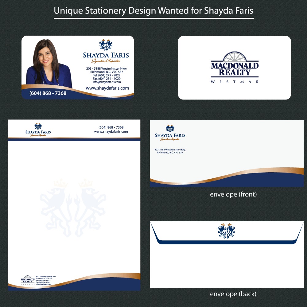 Business Card Design by rockin - Entry No. 57 in the Business Card Design Contest Unique Stationery Design Wanted for Shayda Faris.