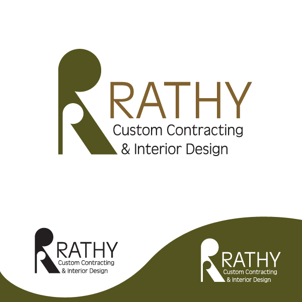 Logo Design by storm - Entry No. 1 in the Logo Design Contest Logo Design Needed for Exciting New Company Rathy Custom Contracting & Interior Design.