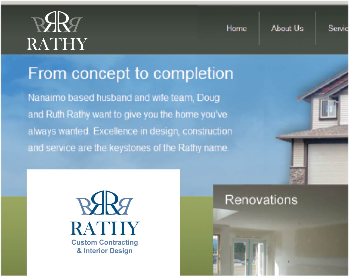 Logo Design by peps - Entry No. 2 in the Logo Design Contest Logo Design Needed for Exciting New Company Rathy Custom Contracting & Interior Design.
