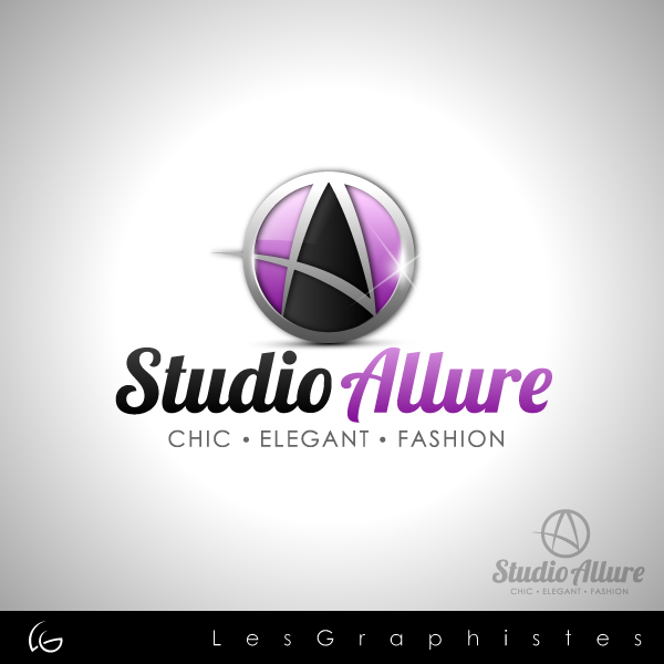 Logo Design by Les-Graphistes - Entry No. 19 in the Logo Design Contest Logo Design Needed for Exciting New Company Studio Allure.