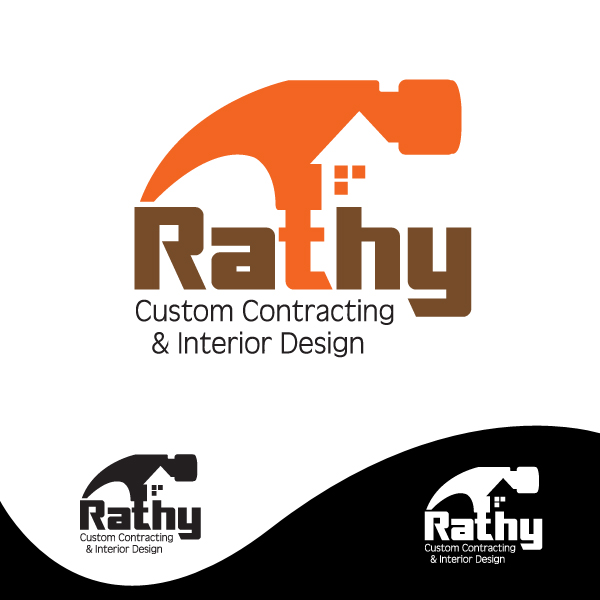 Logo Design by storm - Entry No. 13 in the Logo Design Contest Logo Design Needed for Exciting New Company Rathy Custom Contracting & Interior Design.