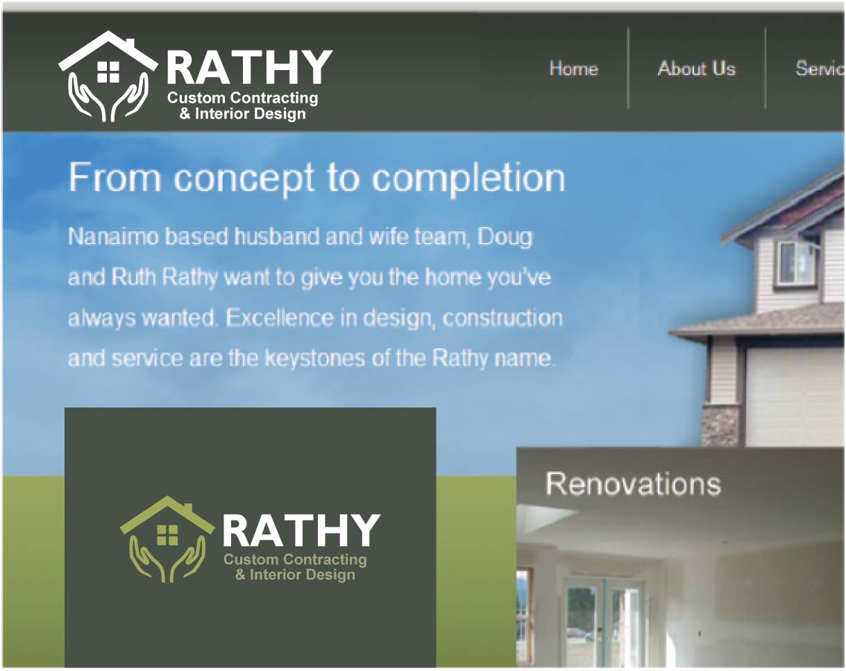 Logo Design by peps - Entry No. 16 in the Logo Design Contest Logo Design Needed for Exciting New Company Rathy Custom Contracting & Interior Design.