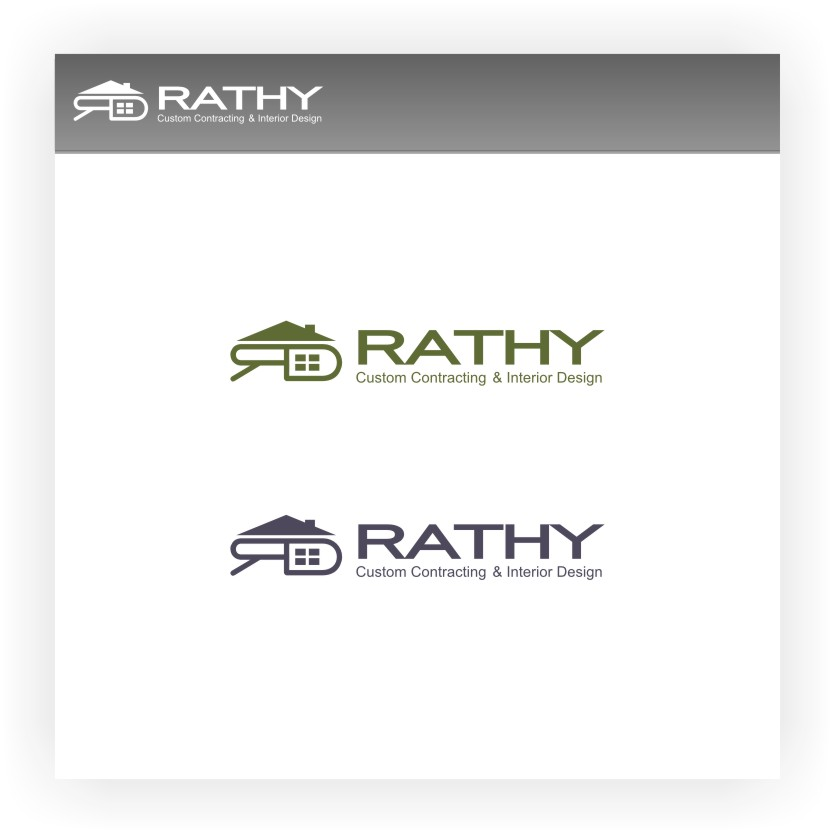 Logo Design by Muhammad Nasrul chasib - Entry No. 17 in the Logo Design Contest Logo Design Needed for Exciting New Company Rathy Custom Contracting & Interior Design.