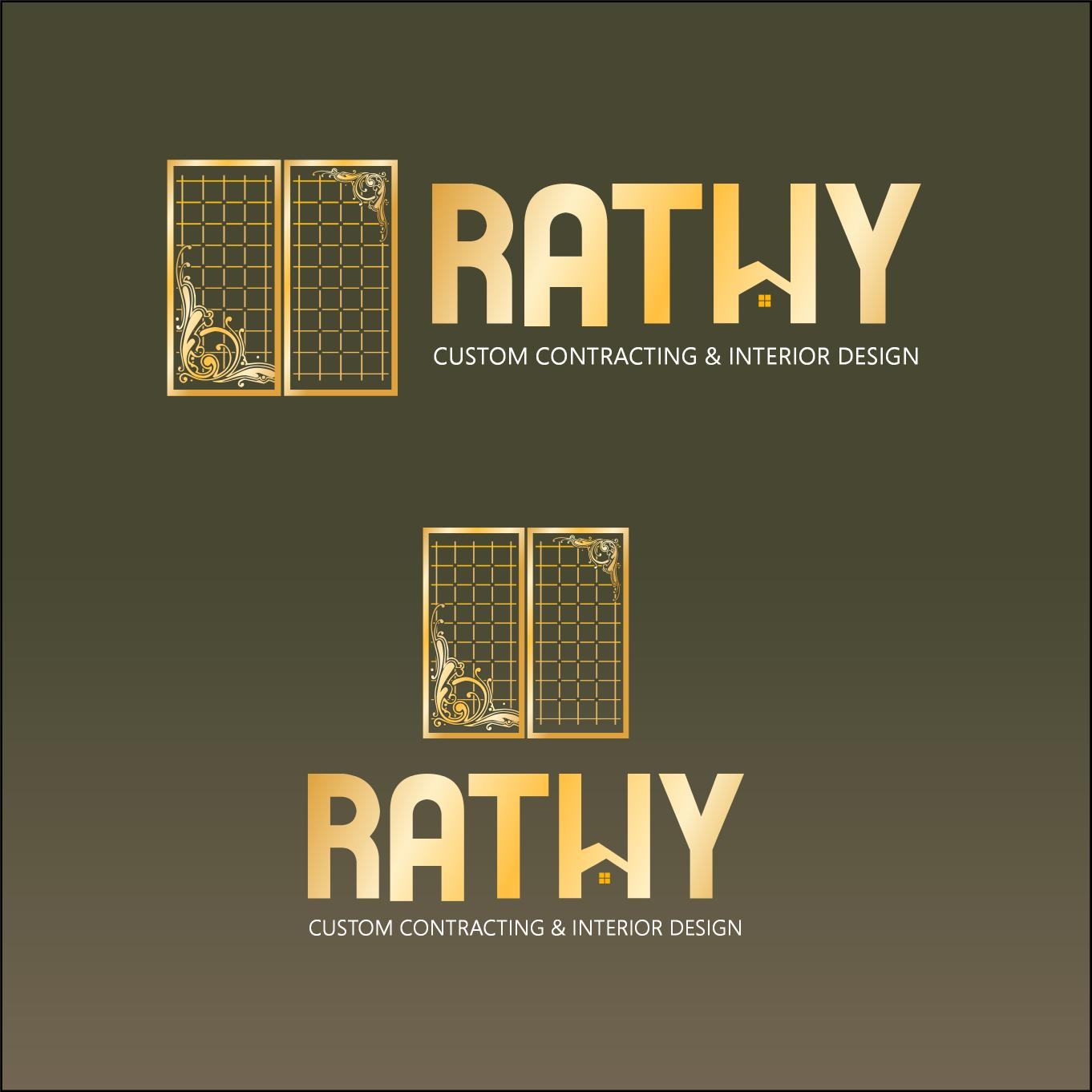 Logo Design by luvrenz - Entry No. 23 in the Logo Design Contest Logo Design Needed for Exciting New Company Rathy Custom Contracting & Interior Design.