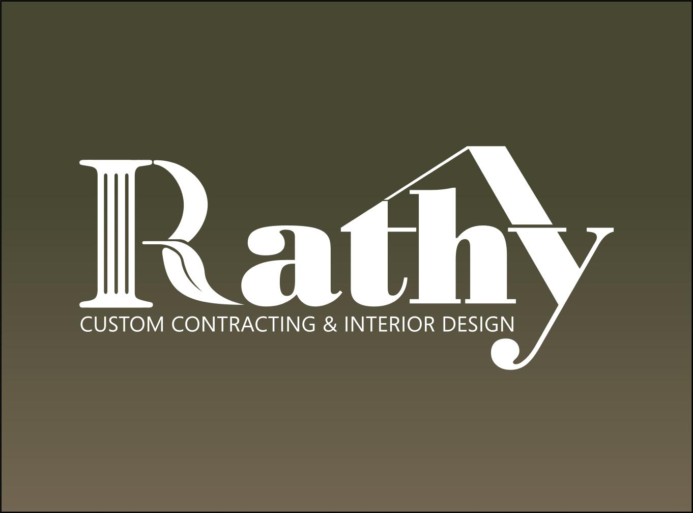 Logo Design by aresforever78 - Entry No. 24 in the Logo Design Contest Logo Design Needed for Exciting New Company Rathy Custom Contracting & Interior Design.