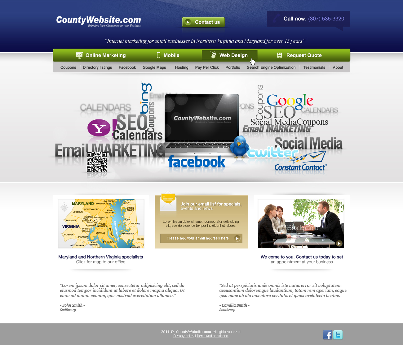 Web Page Design by John - Entry No. 44 in the Web Page Design Contest Unique Web Page Design Wanted for CountyWebsite.com.