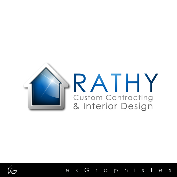 Logo Design by Les-Graphistes - Entry No. 27 in the Logo Design Contest Logo Design Needed for Exciting New Company Rathy Custom Contracting & Interior Design.