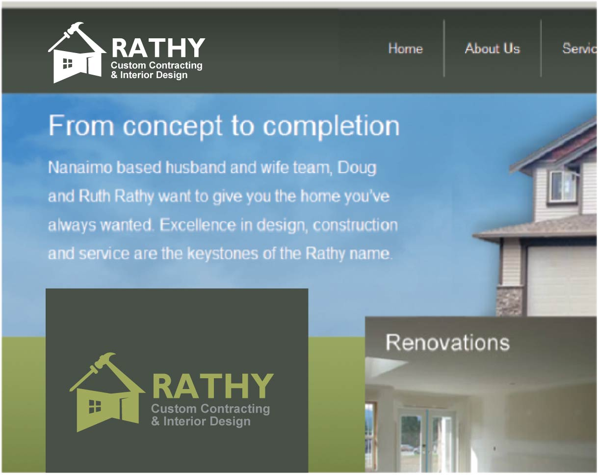 Logo Design by peps - Entry No. 28 in the Logo Design Contest Logo Design Needed for Exciting New Company Rathy Custom Contracting & Interior Design.
