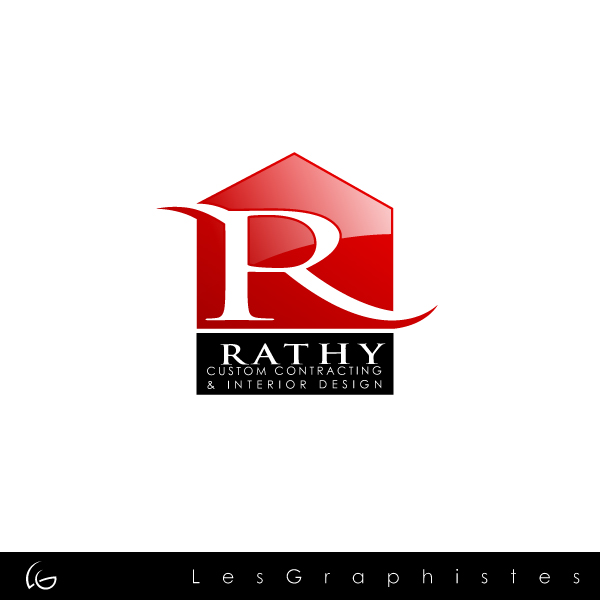 Logo Design by Les-Graphistes - Entry No. 30 in the Logo Design Contest Logo Design Needed for Exciting New Company Rathy Custom Contracting & Interior Design.