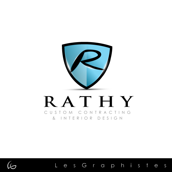 Logo Design by Les-Graphistes - Entry No. 31 in the Logo Design Contest Logo Design Needed for Exciting New Company Rathy Custom Contracting & Interior Design.