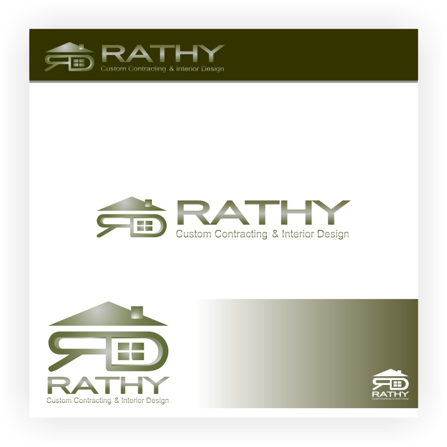 Logo Design by graphicleaf - Entry No. 38 in the Logo Design Contest Logo Design Needed for Exciting New Company Rathy Custom Contracting & Interior Design.