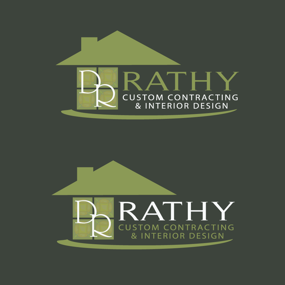 Logo Design by rockin - Entry No. 39 in the Logo Design Contest Logo Design Needed for Exciting New Company Rathy Custom Contracting & Interior Design.