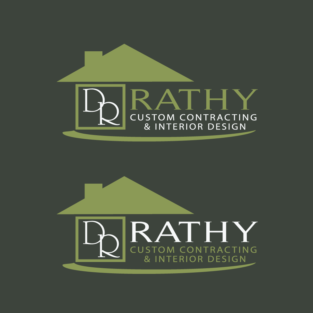 Logo Design by rockin - Entry No. 40 in the Logo Design Contest Logo Design Needed for Exciting New Company Rathy Custom Contracting & Interior Design.