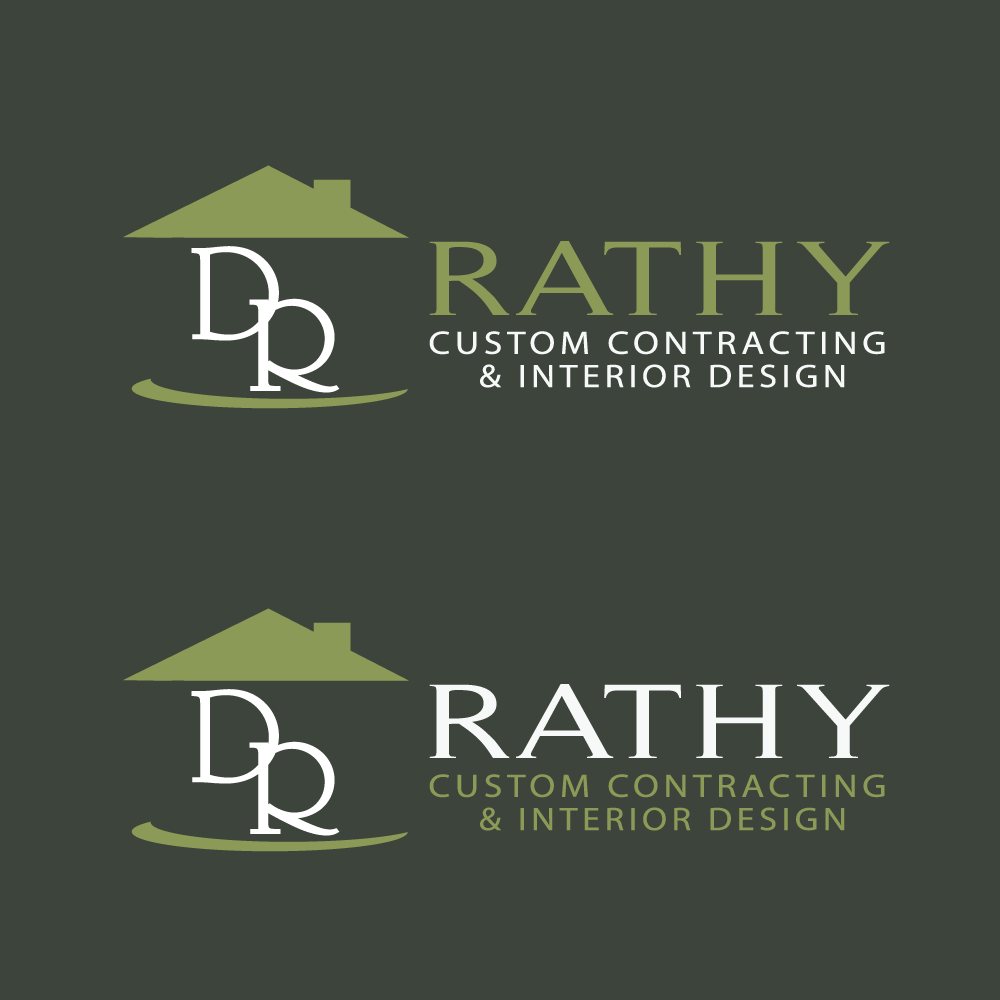 Logo Design by rockin - Entry No. 41 in the Logo Design Contest Logo Design Needed for Exciting New Company Rathy Custom Contracting & Interior Design.