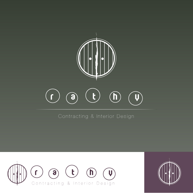 Logo Design by trav - Entry No. 44 in the Logo Design Contest Logo Design Needed for Exciting New Company Rathy Custom Contracting & Interior Design.