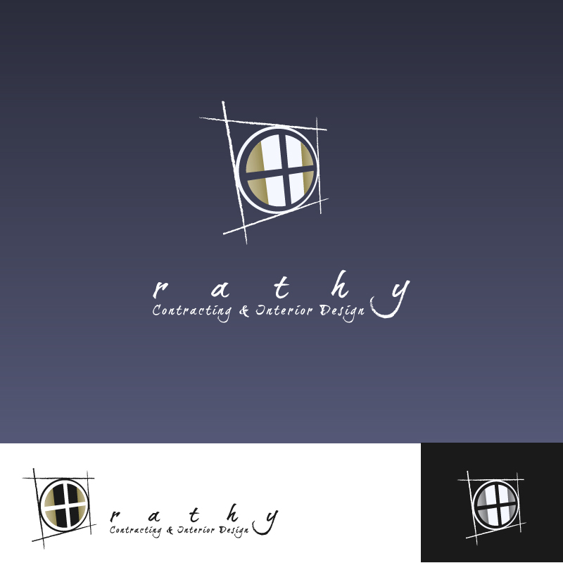 Logo Design by trav - Entry No. 45 in the Logo Design Contest Logo Design Needed for Exciting New Company Rathy Custom Contracting & Interior Design.