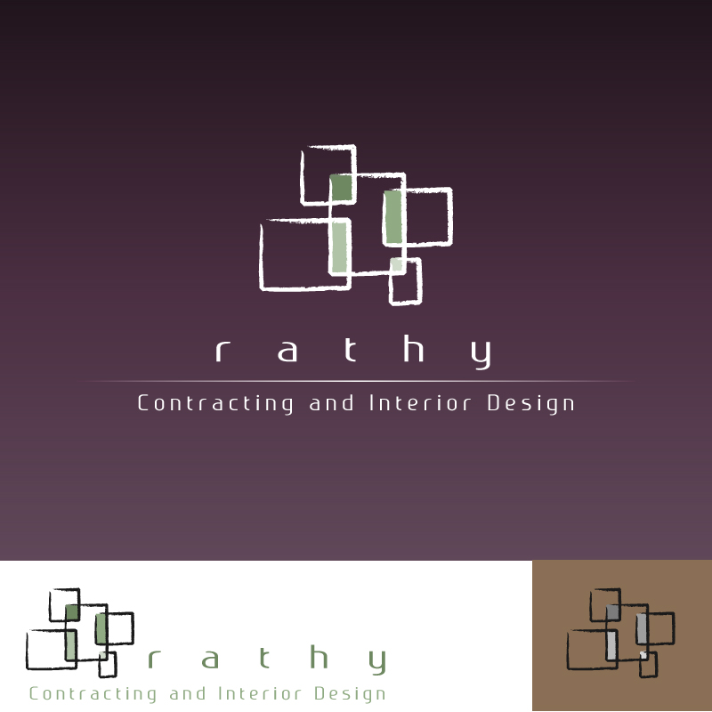 Logo Design by trav - Entry No. 46 in the Logo Design Contest Logo Design Needed for Exciting New Company Rathy Custom Contracting & Interior Design.