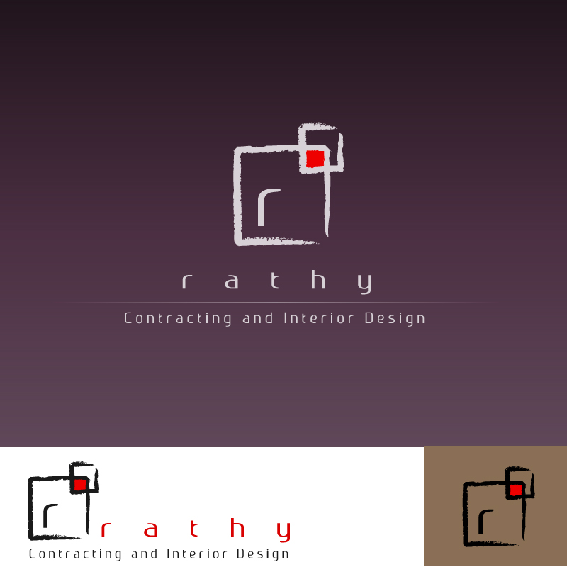 Logo Design by trav - Entry No. 47 in the Logo Design Contest Logo Design Needed for Exciting New Company Rathy Custom Contracting & Interior Design.