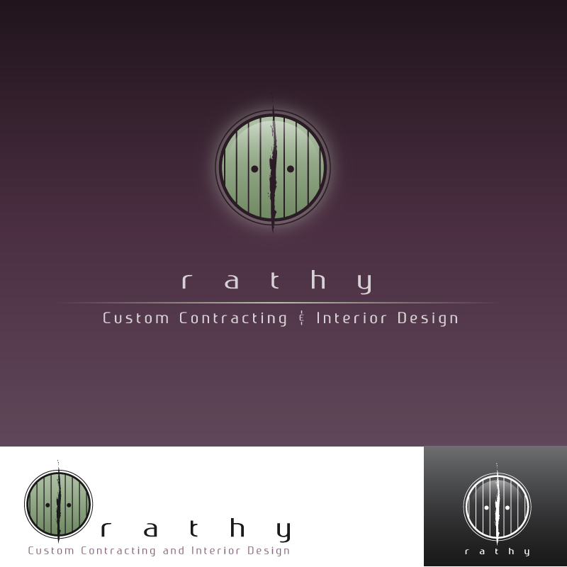 Logo Design by trav - Entry No. 48 in the Logo Design Contest Logo Design Needed for Exciting New Company Rathy Custom Contracting & Interior Design.