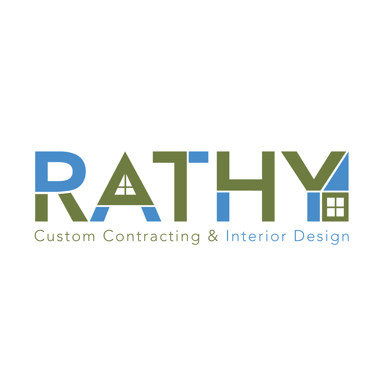 Logo Design by CaptainBope - Entry No. 49 in the Logo Design Contest Logo Design Needed for Exciting New Company Rathy Custom Contracting & Interior Design.