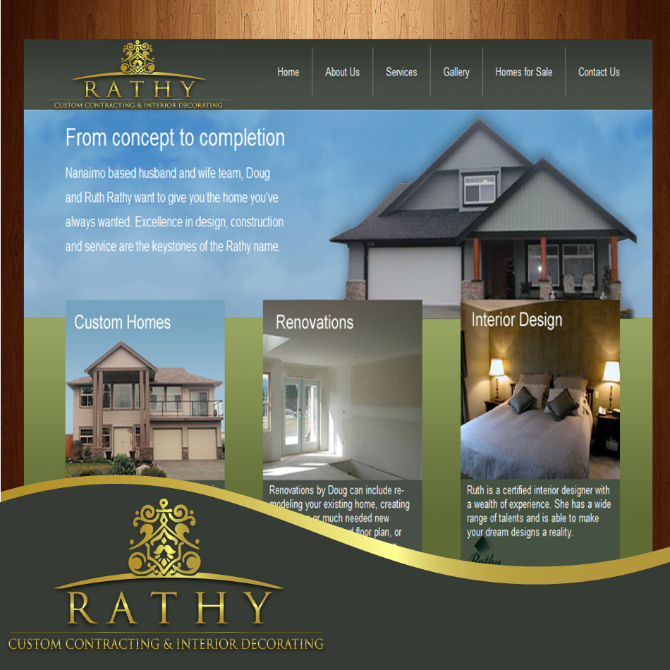 Logo Design by moonflower - Entry No. 53 in the Logo Design Contest Logo Design Needed for Exciting New Company Rathy Custom Contracting & Interior Design.