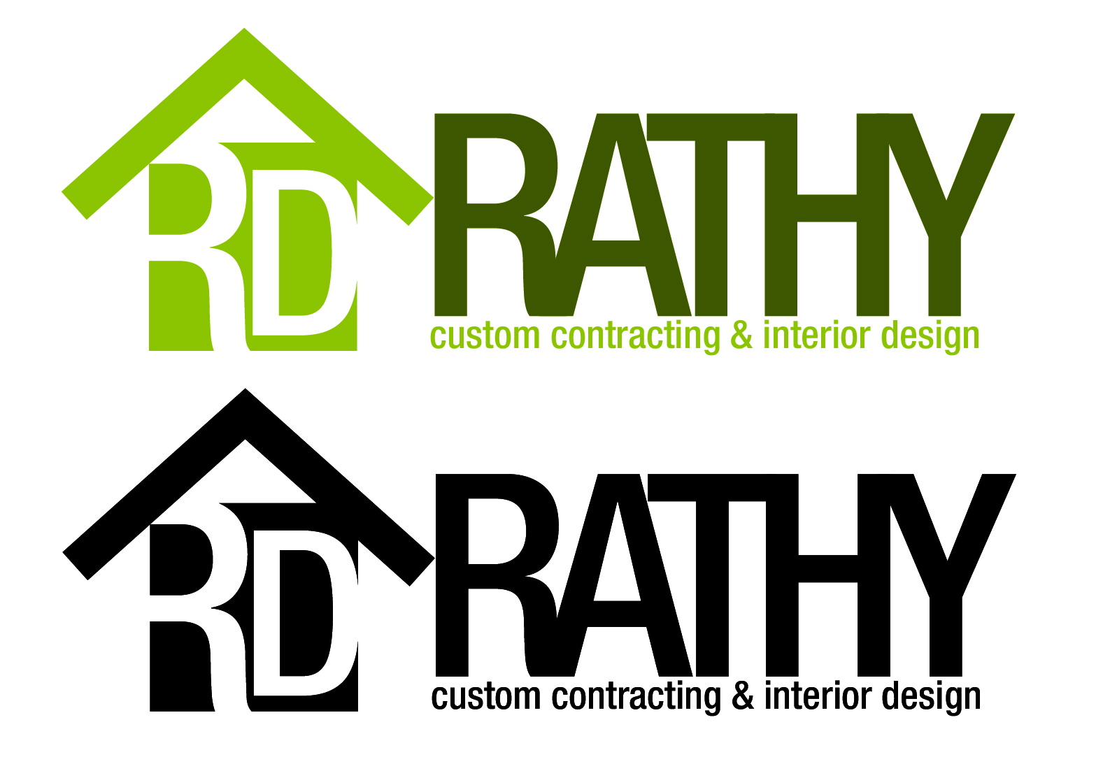 Logo Design by Juan Garizabalo - Entry No. 54 in the Logo Design Contest Logo Design Needed for Exciting New Company Rathy Custom Contracting & Interior Design.
