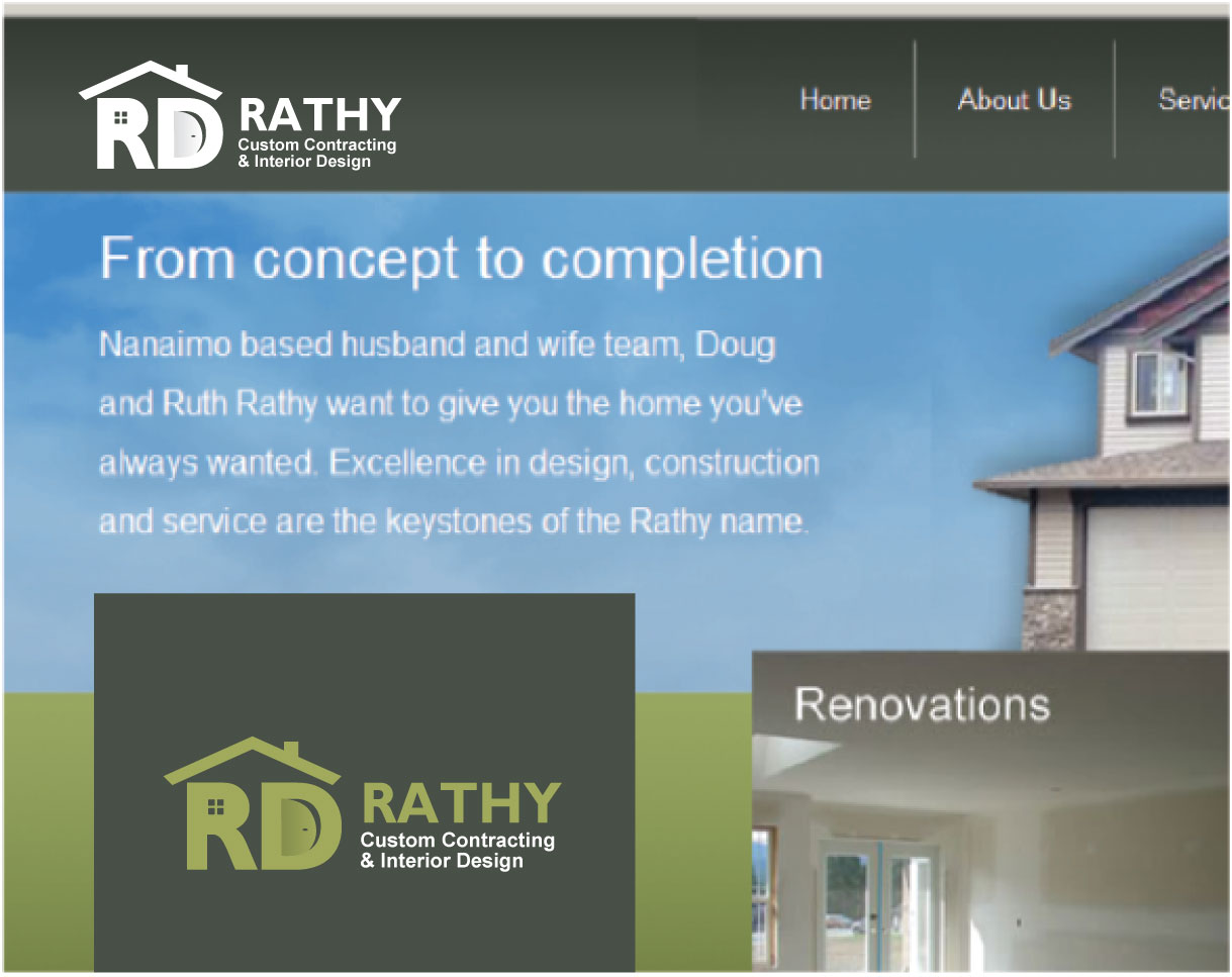 Logo Design by peps - Entry No. 76 in the Logo Design Contest Logo Design Needed for Exciting New Company Rathy Custom Contracting & Interior Design.