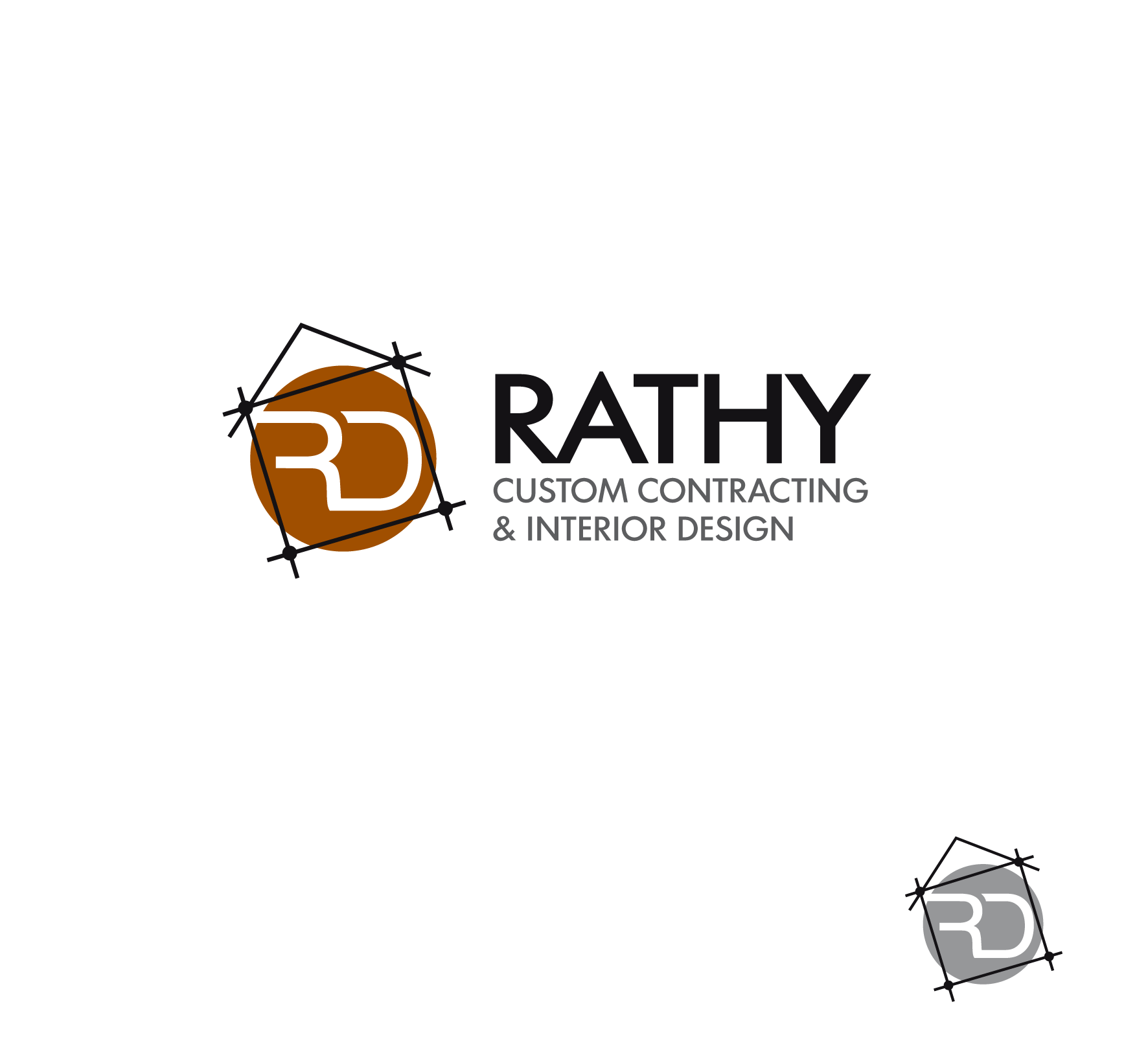 Logo Design by luna - Entry No. 81 in the Logo Design Contest Logo Design Needed for Exciting New Company Rathy Custom Contracting & Interior Design.