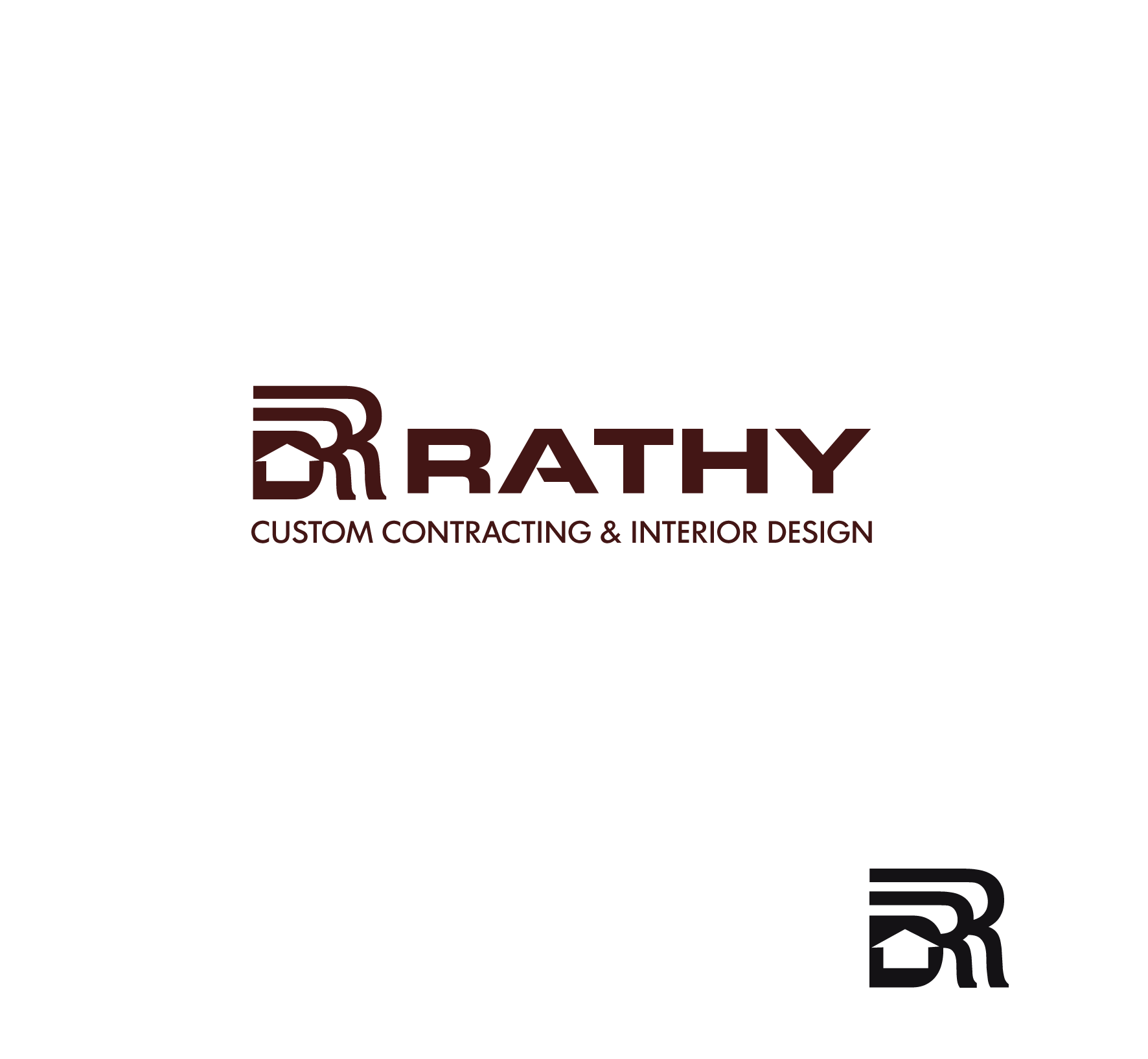 Logo Design by luna - Entry No. 83 in the Logo Design Contest Logo Design Needed for Exciting New Company Rathy Custom Contracting & Interior Design.
