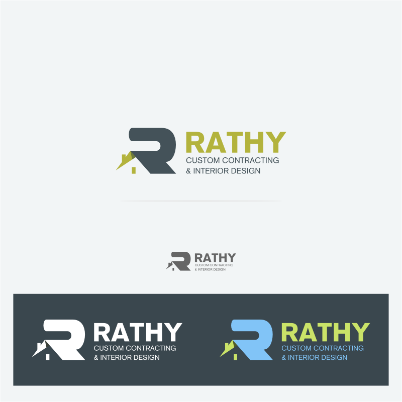 Logo Design by Bouchi - Entry No. 90 in the Logo Design Contest Logo Design Needed for Exciting New Company Rathy Custom Contracting & Interior Design.