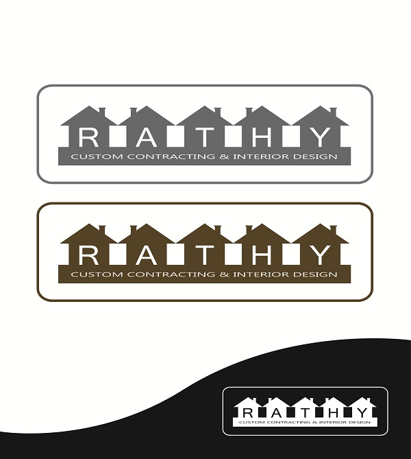 Logo Design by kowreck - Entry No. 91 in the Logo Design Contest Logo Design Needed for Exciting New Company Rathy Custom Contracting & Interior Design.