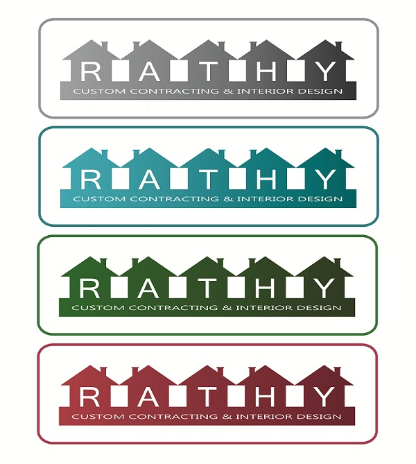 Logo Design by kowreck - Entry No. 93 in the Logo Design Contest Logo Design Needed for Exciting New Company Rathy Custom Contracting & Interior Design.